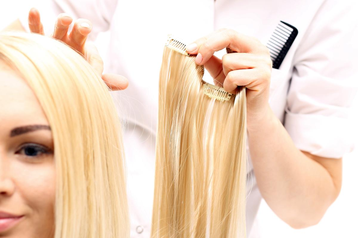 Applying Clip In Hair Extensions
