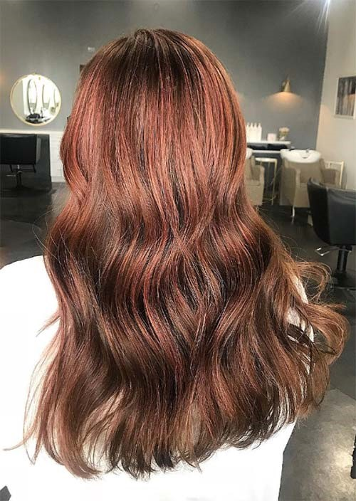 Auburn Rose Brown Hair