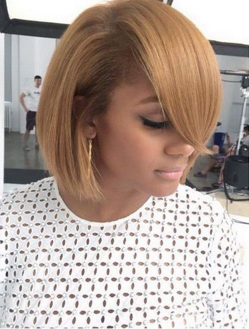 Blonde Bob With Side Part