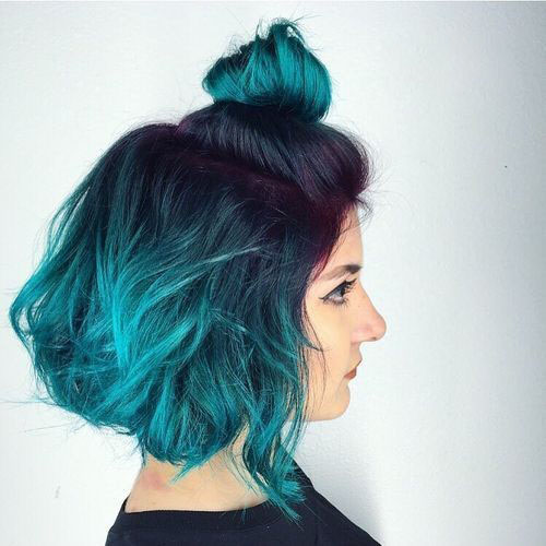 Blue Hair With Dark Roots