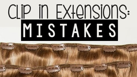 Clip In Hair Extension Mistakes