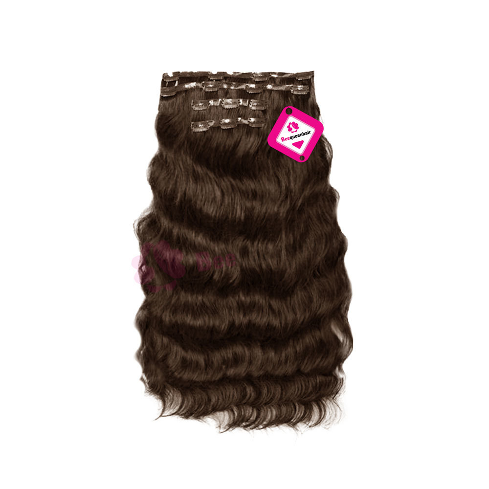 Clip In Tip Body Wavy Dark Brown 01