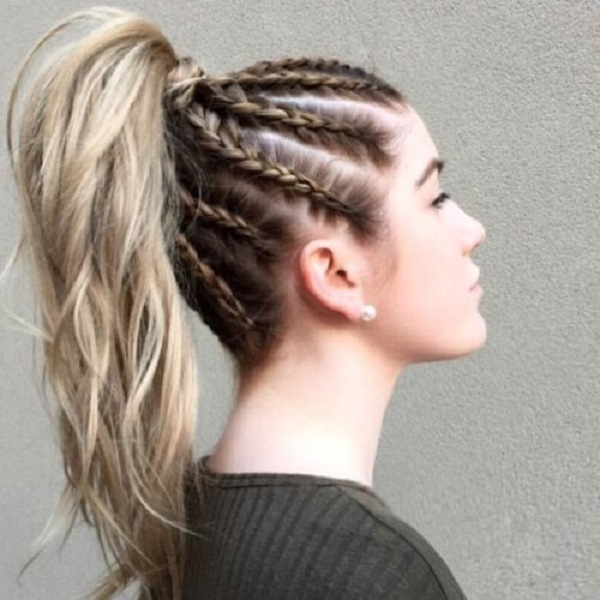 Cornrows Dutch Braid For Long Hair