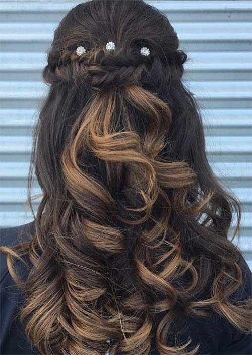 Crown Dutch Braid With Loose Curls