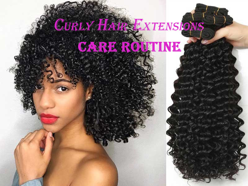 Curly Hair Extensions Care Routine