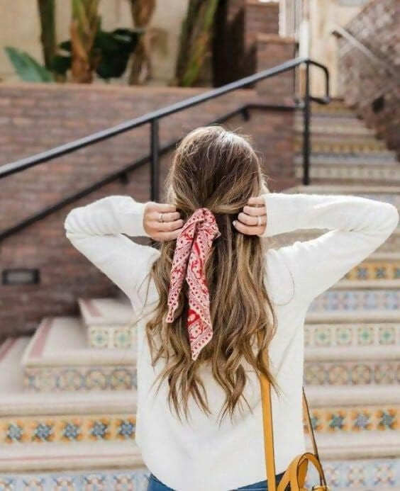 Cute Half Up Hairstyles With Bandana