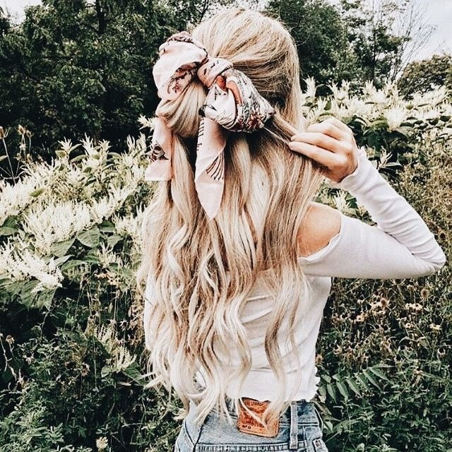 Half Up Hairstyles With Bandana