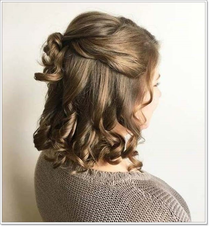 Half Up Short Wavy Hair