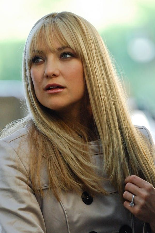 Kate Hudson Haircut Straight Haircut With Bangs
