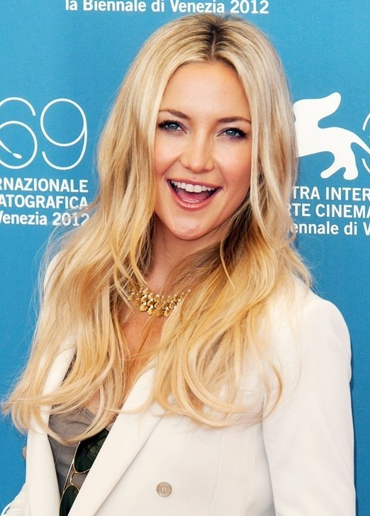 Kate Hudson With Trendy Long Wavy Haircut