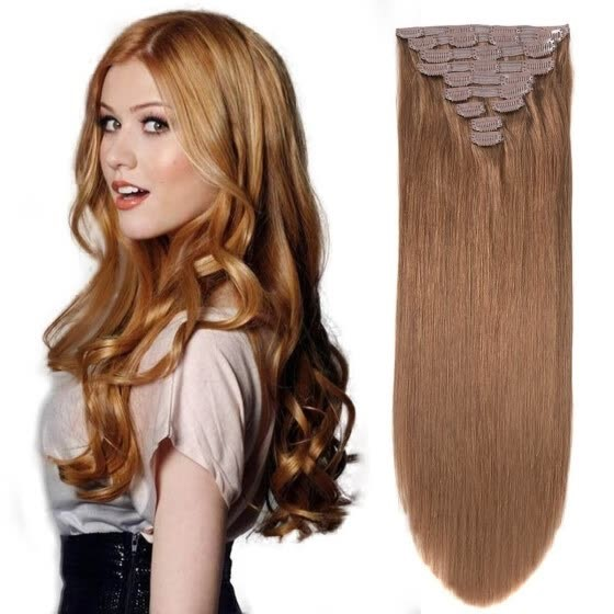 Long Hair With 20 Clip In Hair Extensions