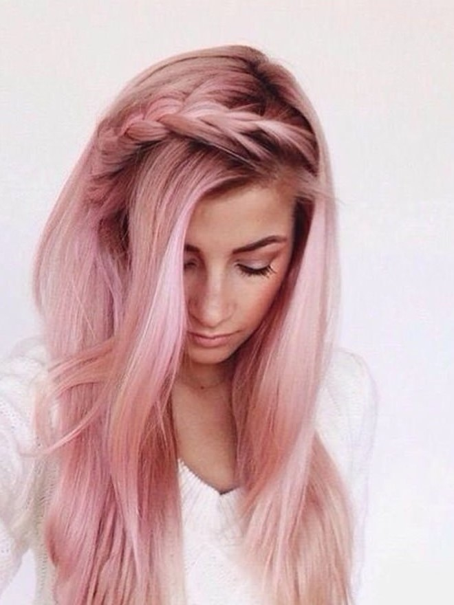 Pink Pastel Hair Color