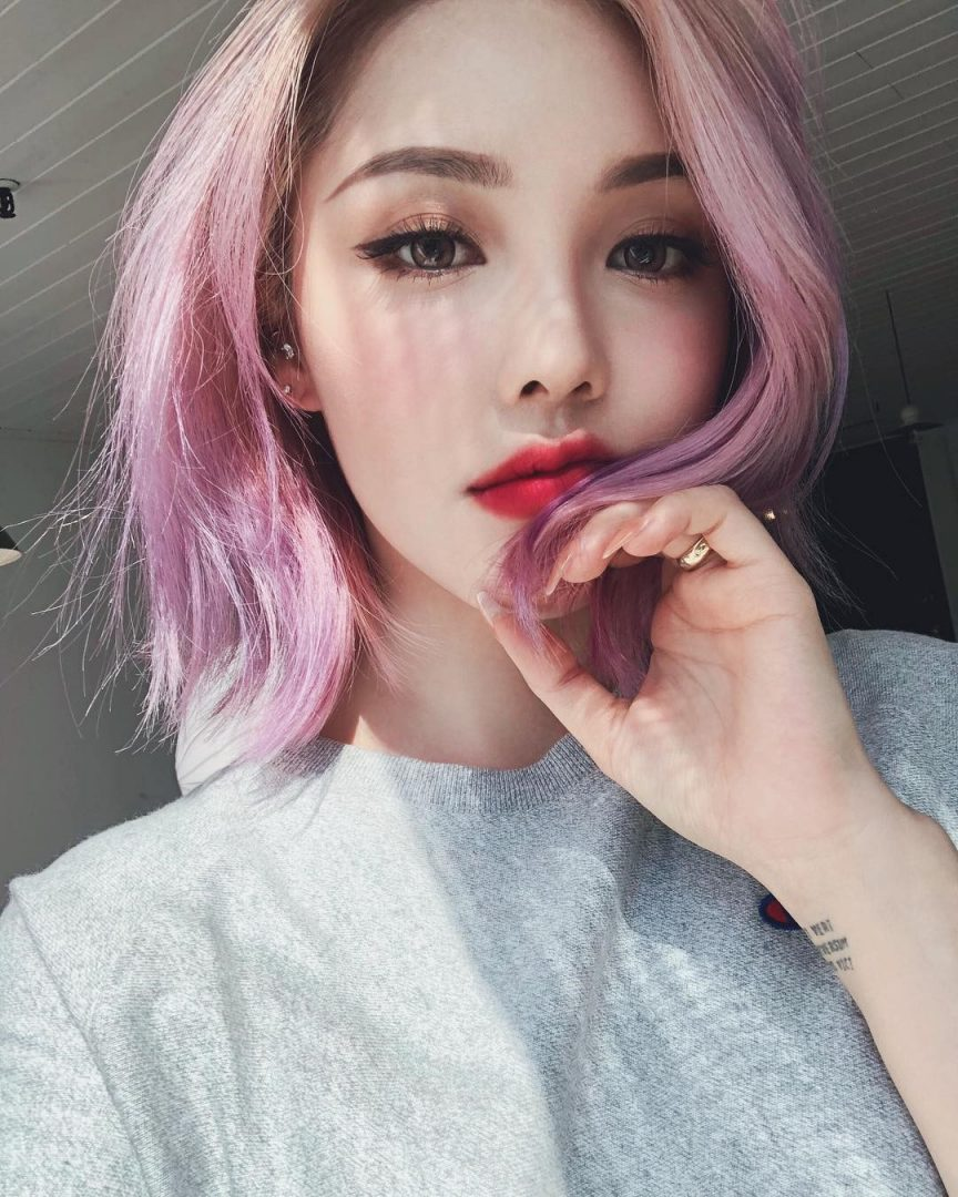 Pink Purple Hair Color