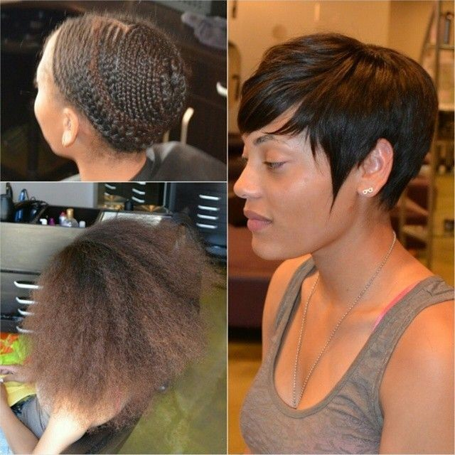 Pixie Cut Sew In