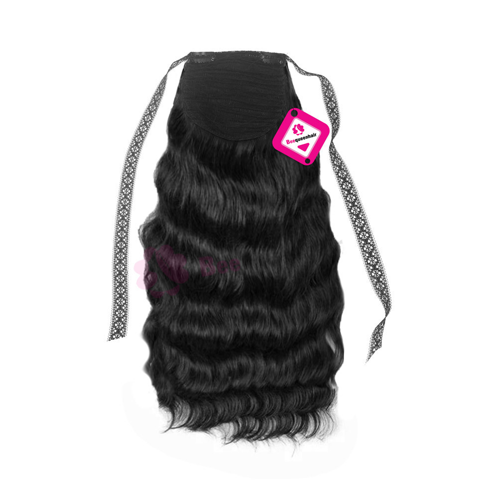 Ponytail Body Wavy Black 01