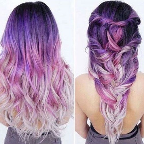 Purple And Platinum Pastel Ombre