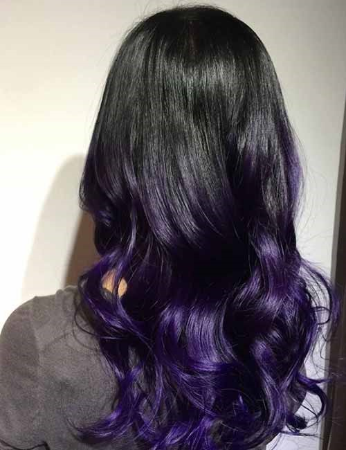 Purple Ombre Hair Color