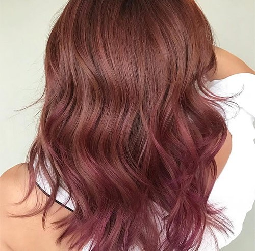 Rose Brown Hair Color