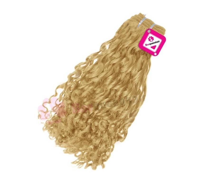 Romantic Curly Blonde Weave