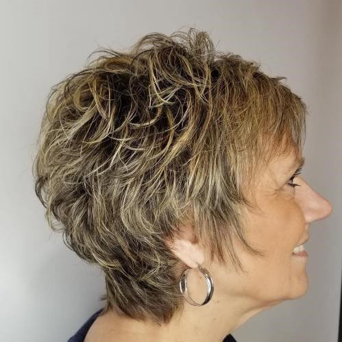 Shaggy Layer Short Haircut