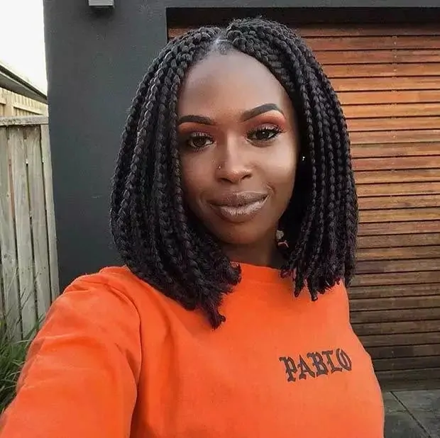 Short Box Braids Bob