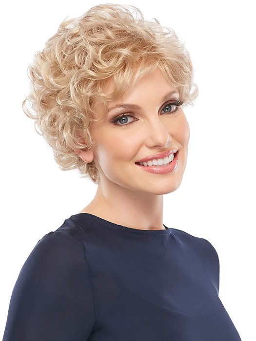 Short Curly Hair In Blonde Color