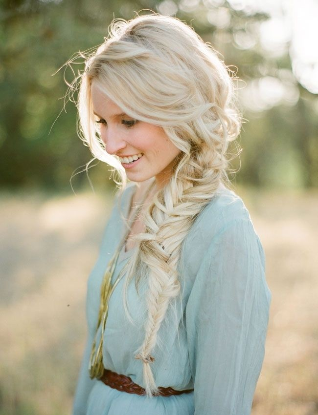 French Side Braid With Voluminous Curls