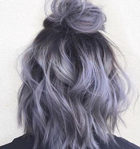 Smokey Purple Hair Color