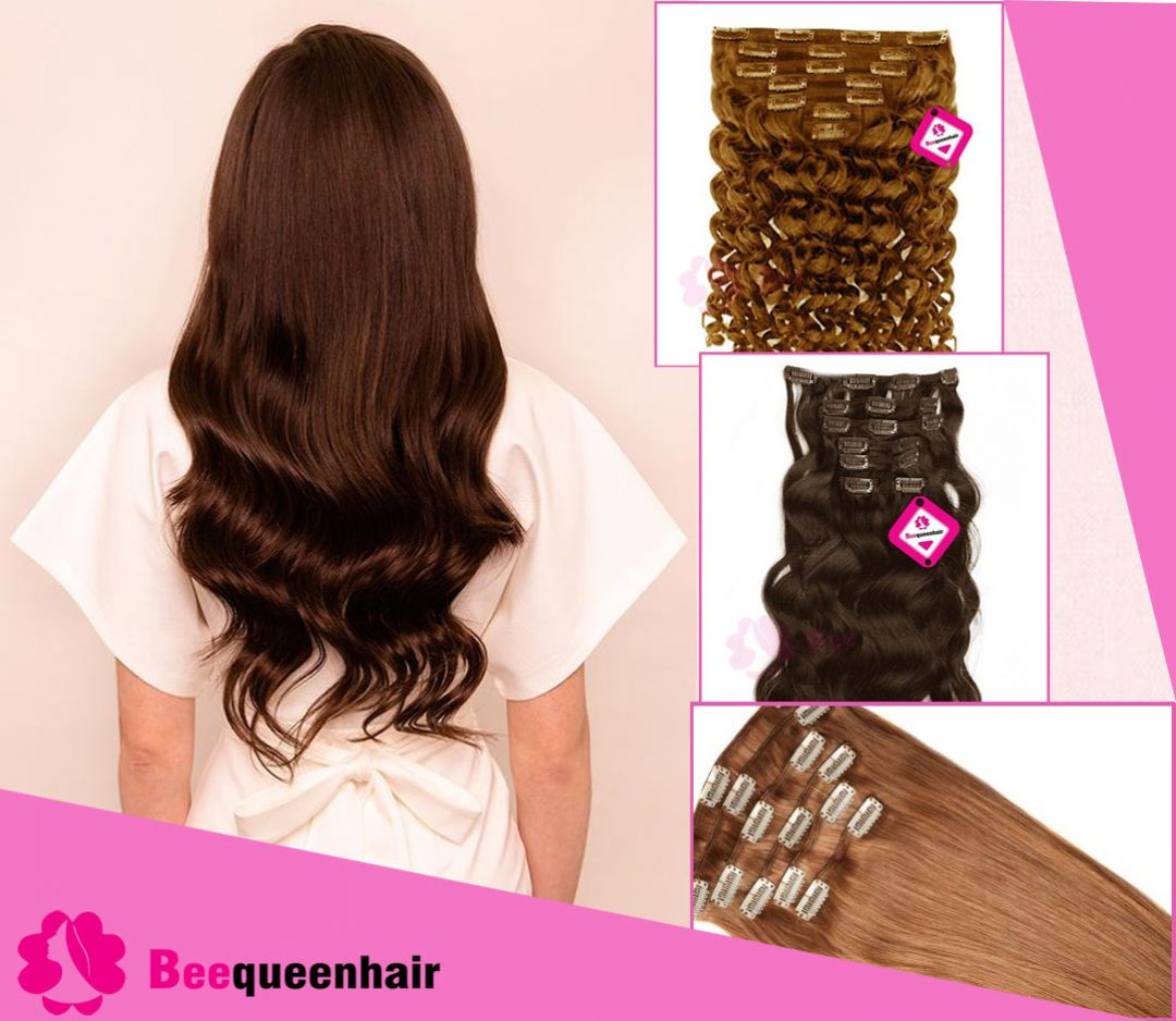 Textures Of Clip In Hair Extensions
