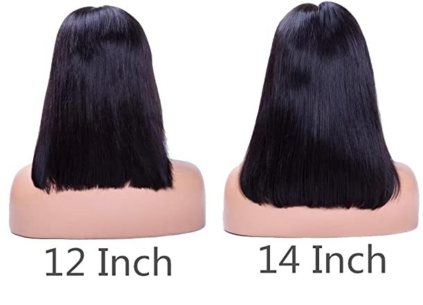Difference between 12 and 14 inch hair length