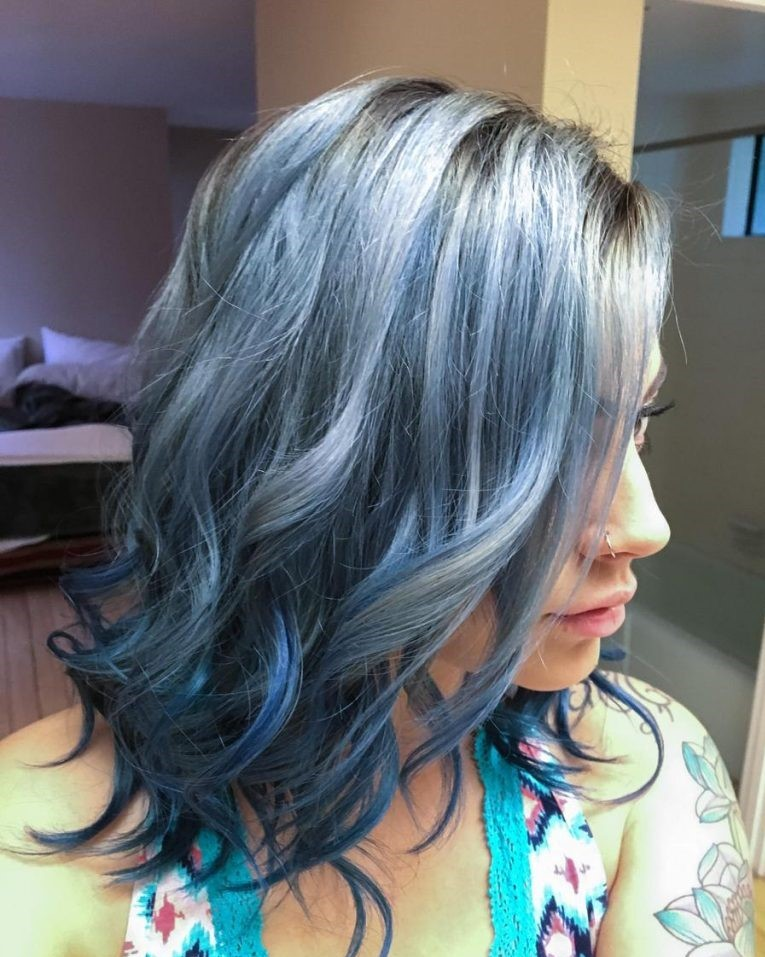 Titanium Blue Hair Color