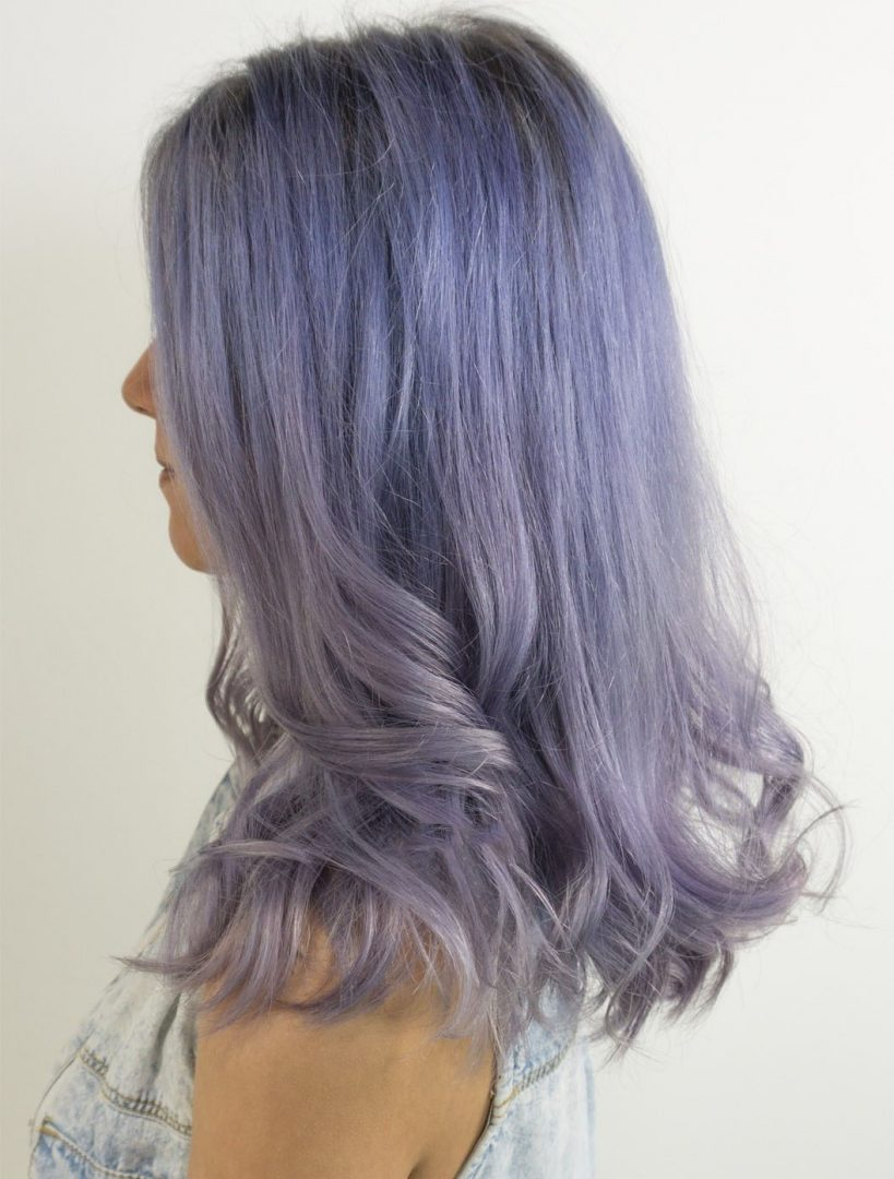 Titanium Lilac Hair Color