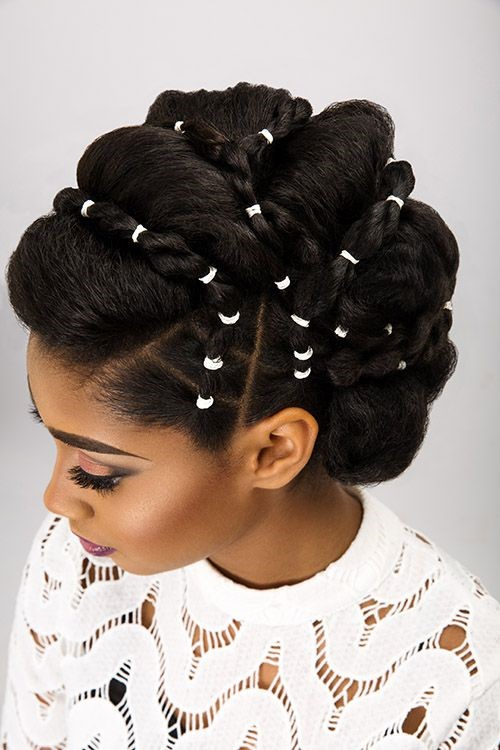 Updo With Purely White Elastics