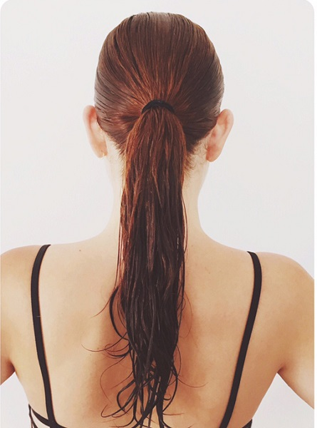 Wet Ponytail