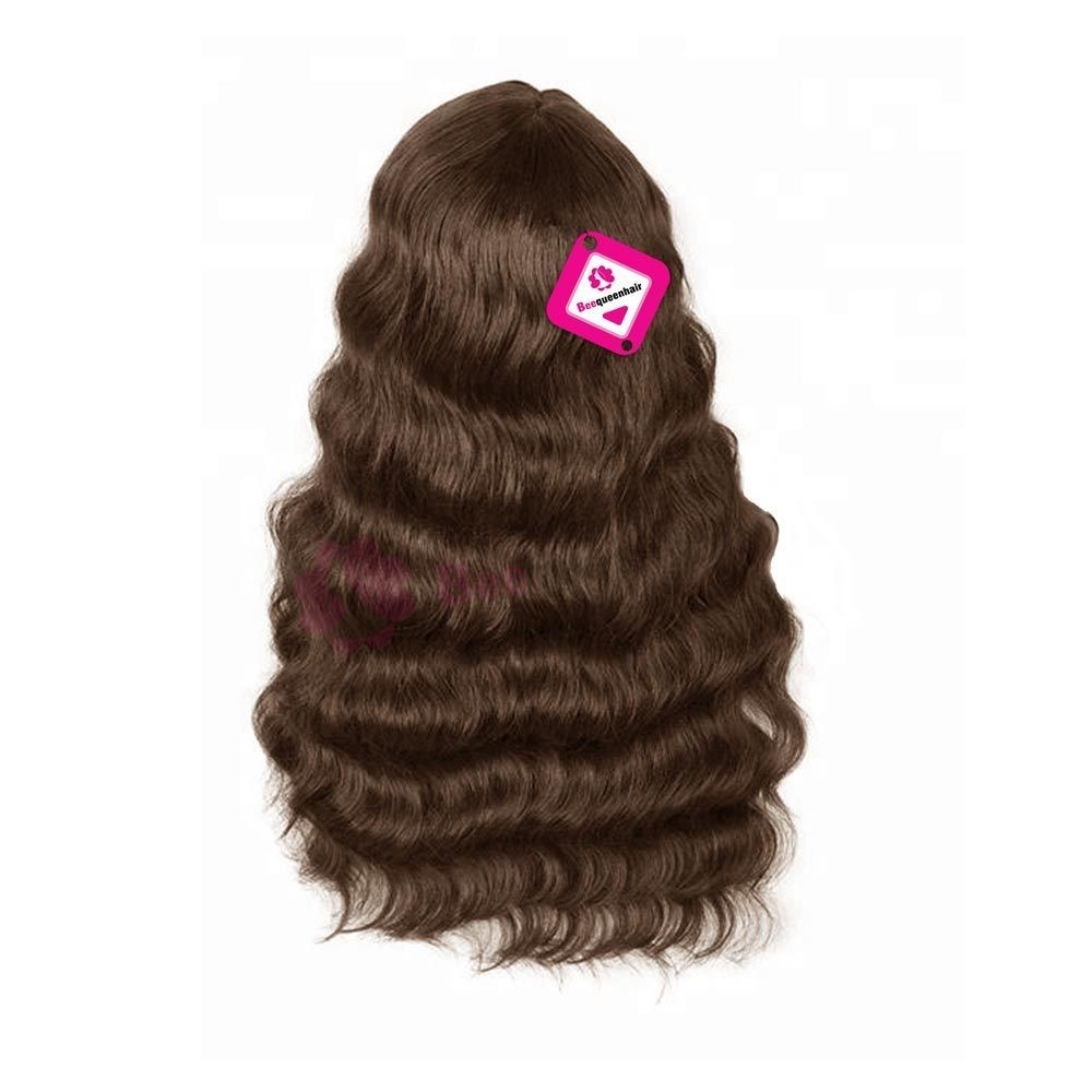 Wig Body Wave Hair Dark Brown Color